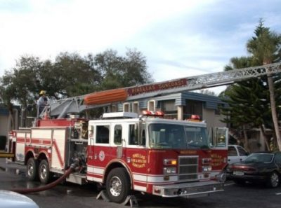Pinellas Suncoast Fire Engine responding to a call.